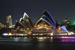 Sydney Opera House (lukedrich_photography) Tags: australia oz commonwealth        newsouthwales nsw canon t6i canont6i history culture sydney       metro city opera house music performing arts centre venue famous distinctive jrnutzon architecture building tourist site bennelong point harbour unesco world heritage concert hall performance iconic art design wave structure engineering night light dark longexposure vivid
