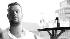'Radler is no beer' (jaap spiering | photographer) Tags: jaapspiering jaapspieringphotographer jaapspieringfotografie blackandwhite monochrome zwartwit bw noiretblanc streetphotography street people mens mensen gx8 denhaag thehague 070 holland netherlands portret portrait
