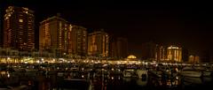 The Pearl- Qatar (aliffc3) Tags: pearl qatar nightshot handheld lowlightphotography sonyrx100iv landscape cityscape boats reflections