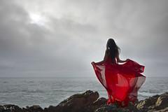 Vietnamese Viet Nam Fashion Model Fantasy Art Photography Beach Oceanside Red Dress (Hai Tuoi) Tags: vietnamese viet nam fashion model fantasy art photography beach oceanside red dress