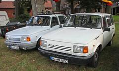 Wartburgs (Schwanzus_Longus) Tags: german germany tostedt east ddr gdr old classic vintage car vehicle sedan saloon station wagon estate break combi kombi wartbung 13s 13 s tourist