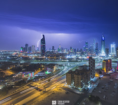 Kuwait - Thunder in The City II (Sarah Al-Sayegh Photography | www.salsayegh.com) Tags: kuwaitcity kuwait canoneos5dmarkiii winter clouds canon leefilters sunset cityscape skyline hazy weather skyscrapers wwwsalsayeghcom infosalsayeghcom sarahhalsayeghphotography photography cityscapephotography thunder storm rain