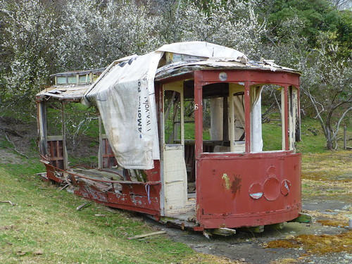 Old tram car, Otago