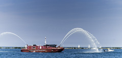 Tall ships 2016 Chicago Fire Dept. (Artemortifica) Tags: boats chicago navypeir tallships band clouds fountains garden lakemichigan sailors sails skyline summer illinois