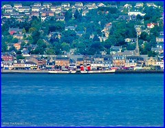 Scotland the paddle steamer Waverley docked at Helensburgh 25 August 2012 by Anne MacKay (Anne MacKay images of interest & wonder) Tags: scotland greenock paddle august steamer waverley 2012 helesburgh photobyannemackay