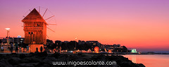 Atardecer en Nessebar Bulgaria (Iigo Escalante) Tags: park travel viaje parque sunset sea summer people panorama costa black mill night de atardecer noche coast mar europa europe gente negro feria images panoramic molino bulgaria national panoramica verano planet nocturna conde lonely geographic nast viajar ornage nesebar traveler atracciones barracas nessebar