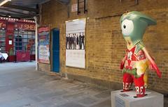 Spotlight Mandeville (hectordotlee) Tags: city uk london canon theater wm spotlight mascot leicestersquare mandeville westend futuristic paralympics wenlock london2012 500d canon500d discoverytrail