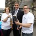 Linda Duffy, Disability Co-Ordinator of the 174 Trust and  Geoff Kerr, Deputy Director of the 174 Trust are pictured with Chris Holmes