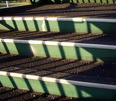 Pasturefields Footbridge ii (DizDiz) Tags: uk england shadows steps staffordshire westcoastline olympusc720uz