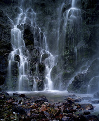 Waterfall (David C Walker 1967) Tags: waterfall sutherland clashnessie carlzeiss25mm nikond3s