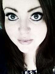 Big 3-0! (ananyah.COM) Tags: bw selfportrait me face 30 female myself eyes lips ananyah