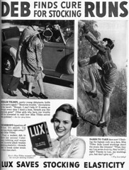 Vintage Ad #2.029: Deb Finds Cure for Stocking Runs (jbcurio) Tags: stockings clothing laundry lux vintagead
