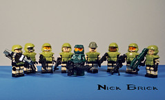 Marines on the ground, sir! (Nick Brick) Tags: 3 trooper lego helmet halo armor sniper shock marines shotgun smg spartan rocketlauncher assaultrifle machinegunturret unsc brickarms odst battlerifle brickforge spartanlaser watchtheseshittycustomsgetmorefavesthanamocthattooktimeandeffort