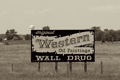 Wall Drug Billboard (the_mel) Tags: bw wall southdakota highway billboard advertisement drug 90 i90 walldrug