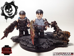 Finished Marcus Figures (pecovam) Tags: brick war lego marcus fenix end custom gears figures armored affliction journeys sculpt a of pecovam