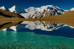 Ice.. (M Atif Saeed) Tags: pakistan lake mountains reflection landscape snowcapped rush hopper highaltitude gilgit