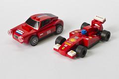 Lego Ferrari Toy Cars from Shell (Thainlin Tay) Tags: cars toy italia lego shell f1 ferrari racing 150 gt 250 berlinetta