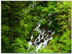 Cascada con Efecto Orton (Nati C.) Tags: naturaleza agua paisaje catalunya pirineos lleida efectoorton valldarn