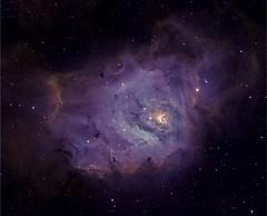 M 08 The Lagoon Nebula in HST palette/DSLR narrowband (astrochuck) Tags: apt canon stars star space lagoon apo telescope nebula astrophotography m8 astronomy ha t3 messier cf deepspace palette hubble 1100 t3i milkyway hst sii oiii 102mm deepsky apochromatic 600d nebulosity conenebula narrowband 1100d dslrastrophotography Astrometrydotnet:status=solved messier8 hubblepalette Astrometrydotnet:version=14400 canont3 canont3i ed102t startools germanequatorial Astrometrydotnet:id=alpha20120917169869