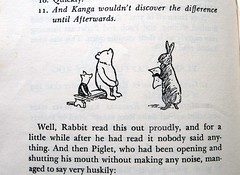 and for a little while after he had read it nobody said anything. (Lise Petrauskas) Tags: bear original usa rabbit art illustration vintage portland photography book photo blackwhite artist drawing or bees bears photograph winniethepooh piglet childrensbook authentic hardcover aamilne ehshepard lisepetrauskas