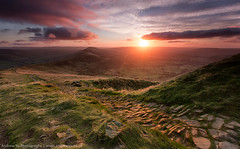 sunrise at mam tor (awhyu) Tags: park sunrise hope district derbyshire peak national valley tor mam castleton