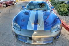 Reflections on a Great Car (jhaskellus) Tags: auto show arizona reflection car palms automobile scottsdale pavilions hdr sportscar bluecar jhaskellus jhaskell jackhaskell pavilionscarshow