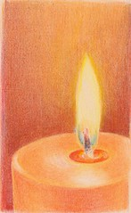 2012_09_17_candle_02 (blue_belta) Tags: orange art sketch candle drawing flame edm coloredpencil