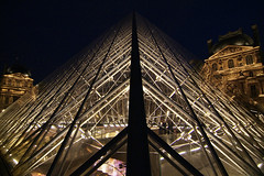 LouvrePyramid04f (midorisyu) Tags: light glass museum architecture night pyramid louvre contemporary musedulouvre ieohmingpei louvrepyramid  grandlouvreproject