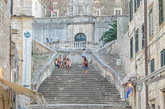 Dubrovnik Stairs (roevin | Urban Capture) Tags: world old city red sea detail building heritage stairs island cityscape village view shot fort scenic croatia baltic unesco roofs vista grad dubrovnik oldcity
