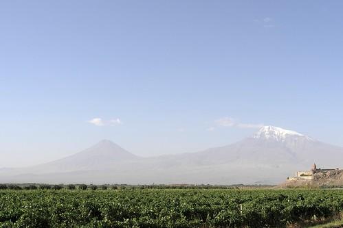 Armenia - monastero di Khor Virab e il Piccolo e Grande Ararat