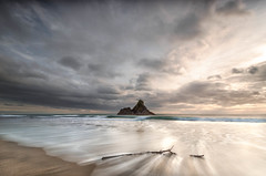 Washed up (Nick Twyford) Tags: nikon d7000 1024mm wideangle leefilters lee06gndhard lee12gndhard auckland karekare newzealand panatahiisland seascape sea westcoast blacksand clouds surf driftwood