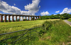 viaduct across the cornfield (Steve Slater (Wildlife Encounters)) Tags: england architecture landscape sussex railway viaduct hdr balcombe southernengland ousevalley balcombeviaduct ouseviaduct johnurpethrastrick