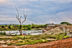 The Dam From the other Side (huskyte77) Tags: road street trip travel november vacation sky orange building tree green nature water grass weather stone architecture clouds creek canon river landscape eos bush highway flickr track day view mud cloudy outdoor oz dam australia lagoon victoria lilly western modified botanic outback gps aussie range westernaustralia gravel tonal topaz 2470mm kununurra 2011 canoneos5d canonef2470mmf28l