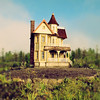 Enchanted Dollhouse (SOMETHiNG MONUMENTAL) Tags: art canon garden indiana elkhart roadsideamerica dollhouse g11 tiltshift somethingmonumental mandycrandell