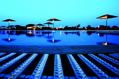Evening by the Pool (Sierragoddess) Tags: sunset reflection pool swimming egypt gouna elgouna