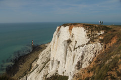 Beachy Head - East Sussex (England) (Meteorry) Tags: uk greatbritain sea england cliff mer lighthouse english nature sussex chalk europe unitedkingdom britain september explore eastbourne british falaise phare eastsussex depth beachyhead 2012 headland meteorry chalkstone roughness