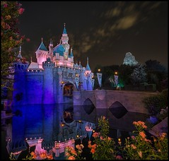 Midnight Beauty (EXPLORED) (Coasterluver) Tags: castle night disneyland disney matterhorn closing hdr thehub sleepingbeautycastle andrewkirby coasterluver