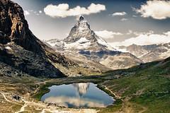Matterhorn Reflection (Thomas Bullock) Tags: summer canon landscape photography switzerland zermatt matterhorn hdr t2i gorgengrat