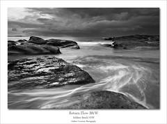 Return Flow B&W (Mathew Courtney) Tags: seascape water sunrise rocks nsw centralcoast soldiersbeach