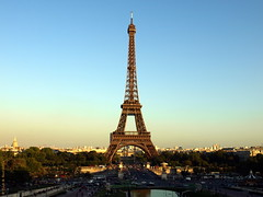 The Iron Lady & Pris (Rick & Bart) Tags: city sunset paris france skyline iron cityscape steel eiffeltower toureiffel eiffeltoren rickbart rickvink