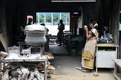 Tea Break (eternal_ag0ny) Tags: street woman india man photography nikon shot tea candid working drinking resting nikkor selling tamil chai nadu 18200mm d300s