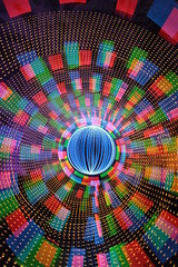 Culvertised overload (- Hob -) Tags: longexposure light lightpainting art underground perception movement time space tunnel led memory tyneside culvert cathode airraidshelter singleexposure 4411 sooc timeandmind
