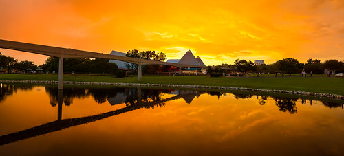 Epcot - Red Sunset at 30th