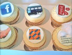 Custom Anniversary Cupcakes