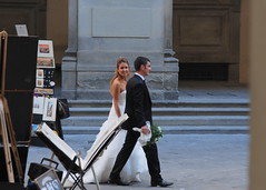 Wedding in the street (SusanCK) Tags: street italy florence susancksphoto