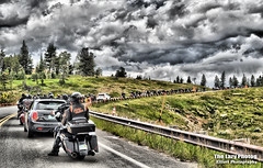 July 16 2016 - Highway construction on Chief Joseph Highway (lazy_photog) Tags: red beautiful photography scenery rally run lodge poker lazy motorcycle p elliott photog beartooth 071616beartoothandredlodge