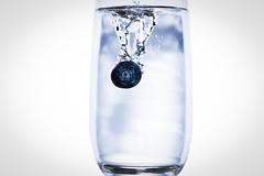 *Sploosh* (Zac_Townsend) Tags: wet glass fruit happy yummy falling blueberry splash thirsty weeeeee sploosh splashy