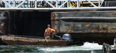 Pushing a Barge (PAJ880) Tags: boston work ma harbor construction marine steering barge workman skill