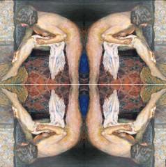 2016-07-23 symmetrical nude paintings 1 (april-mo) Tags: symmetry symmetrical nu nude painting art experimental experimentaltechnique womanportrait