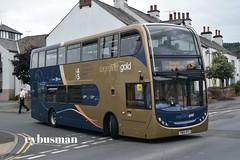 Stagecoach in Cumberland 15222, YN65XFC. (EYBusman) Tags: stagecoach cumberland motor services north west bus coach penrith town centre cumbria gold x4 x5 workington scania n230ub alexander dennis enviro 400 15222 yn65xfc eybusman